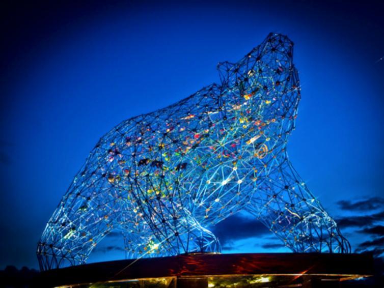 Bear Statue in Stuart Park