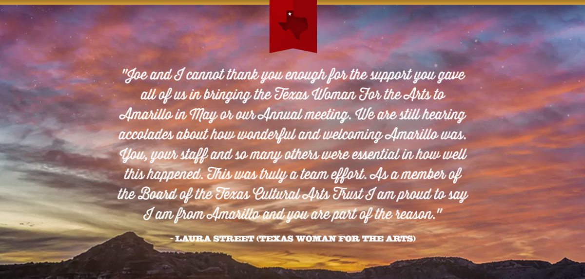 Testimonial by Laura Street from the Texas Woman of the Arts