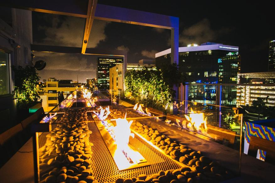 rooftop fire pit