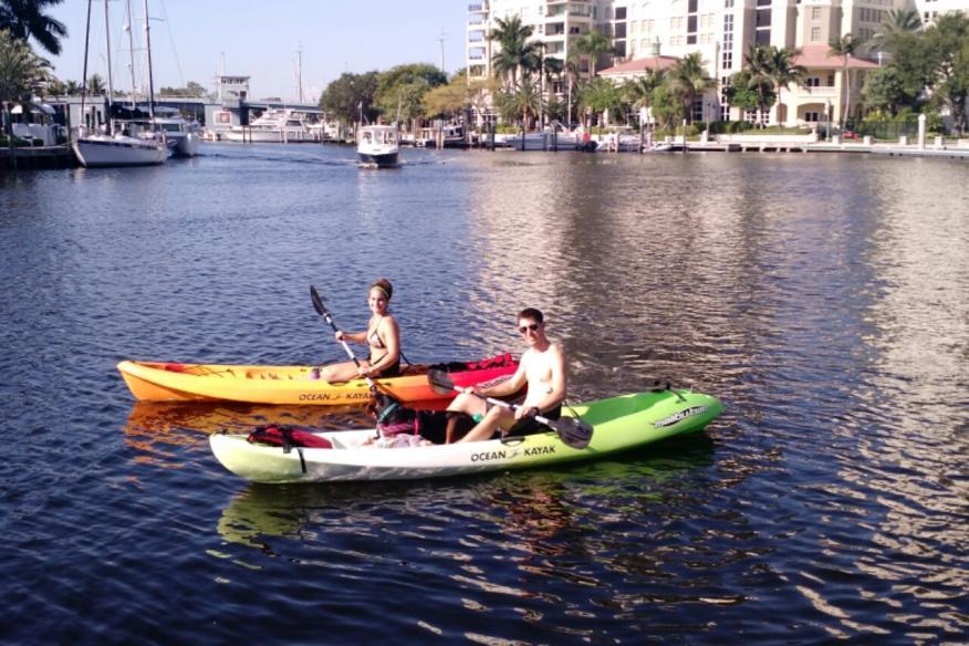 Kayak Rentals along the Riverwalk