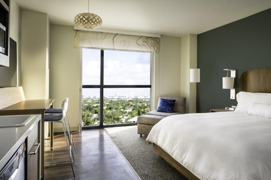 Element Fort Lauderdale King Guestroom Model