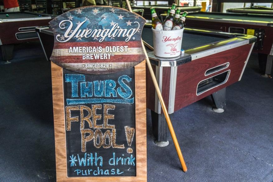 Free pool Thursday
