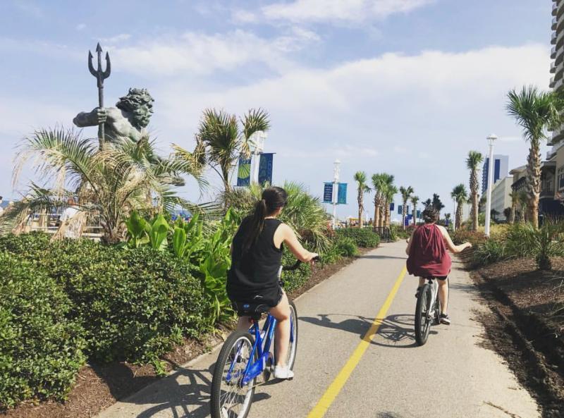 Bike Down Boardwalk