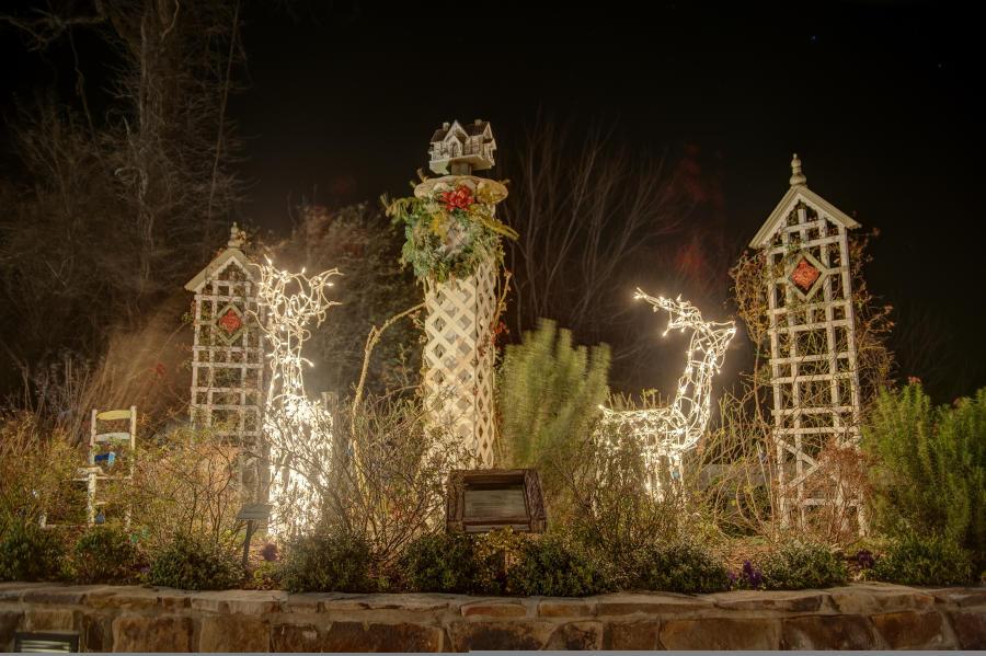 Fairy Village Christmas Display at Lake Lure Flowering Bridge