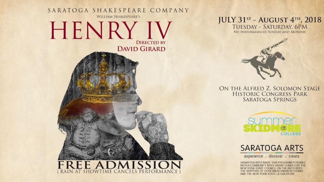 Henry IV promotional image for Saratoga Shakespeare