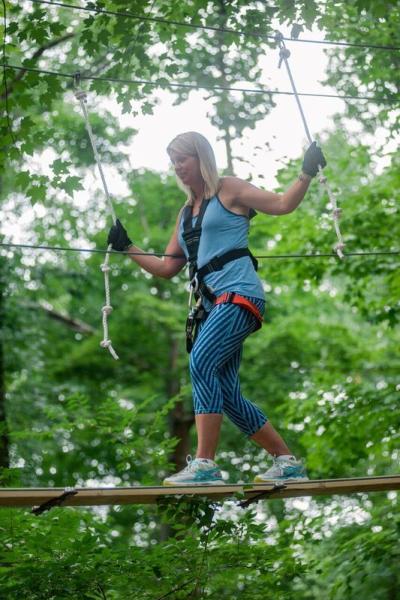 Woman at the ZipZone Adventure Park