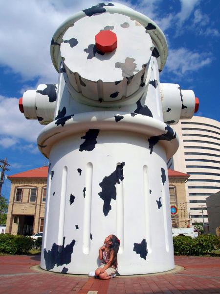 Giant Dalmatian Fire Hydrant