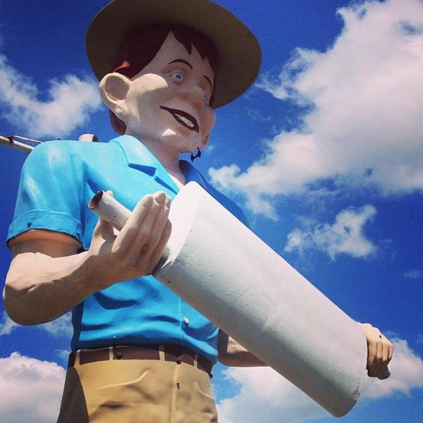 Muffler Man in Beaumont, Texas