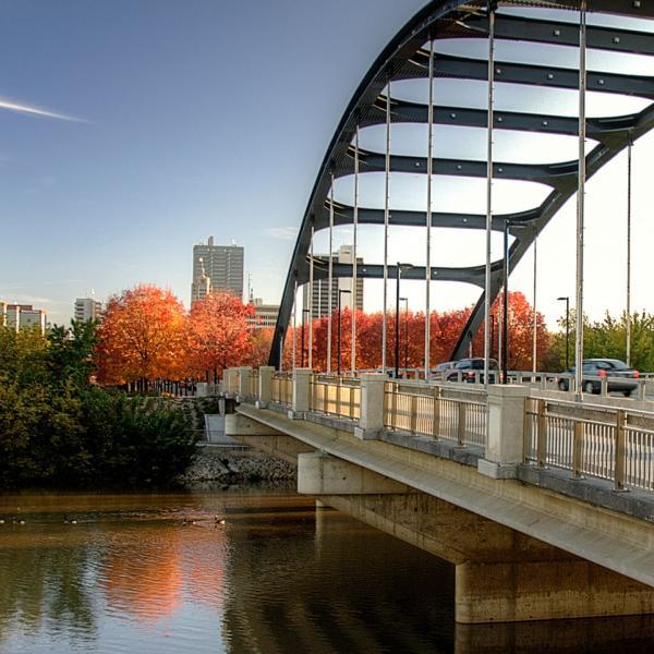 Martin Luther King Jr Bridge in Fall