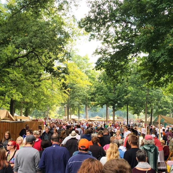 Johnny Appleseed Festival - Crowd of Festival Goers - Fort Wayne, Indiana