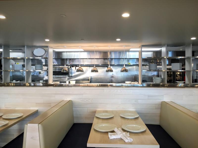 Goldfinch Restaurant Downtown Des Moines Iowa open kitchen
