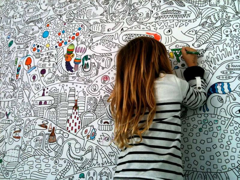 Coloring Mural