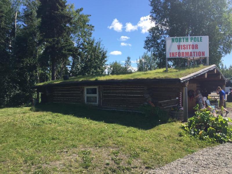 North Pole Visitors Center Log Cabin Alaska