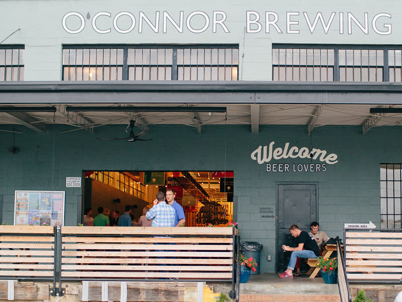 Storefront at O'Connor Brewing Company in Norfolk