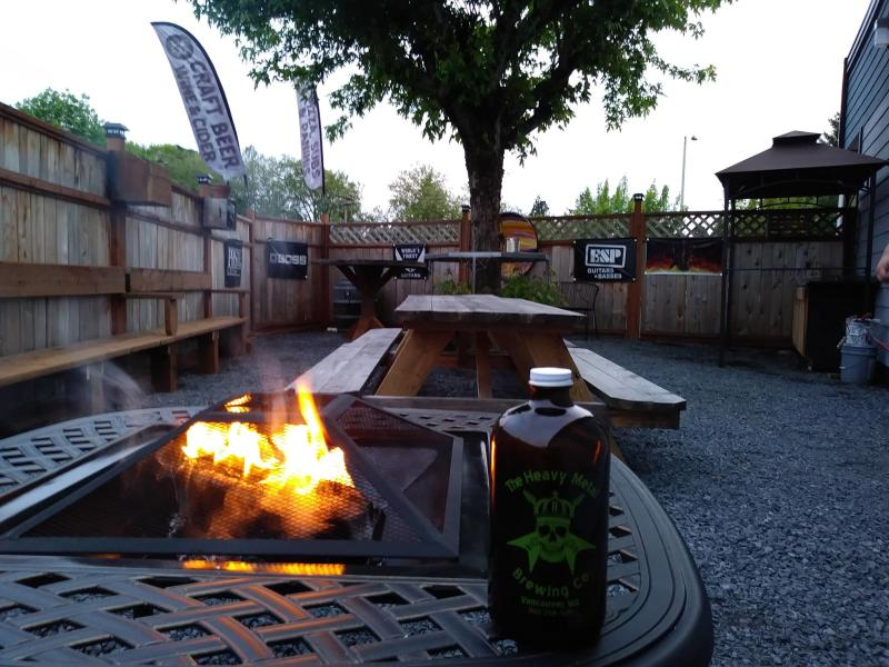 heavy metal brewing patio