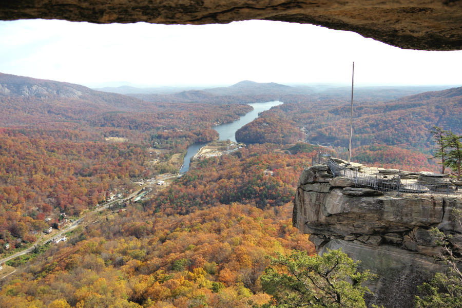 Fall Color at Chimney Rock State Park