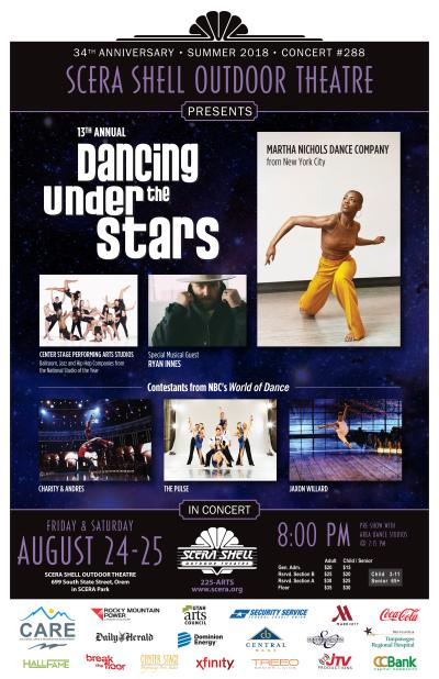 "Stars of NBC's World of Dance Featured at SCERA's ""Dancing Under The Stars"" Aug. 24-25"