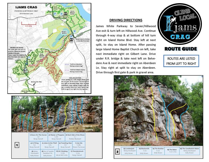 Ijams Crag Rock Climbing Route Guide