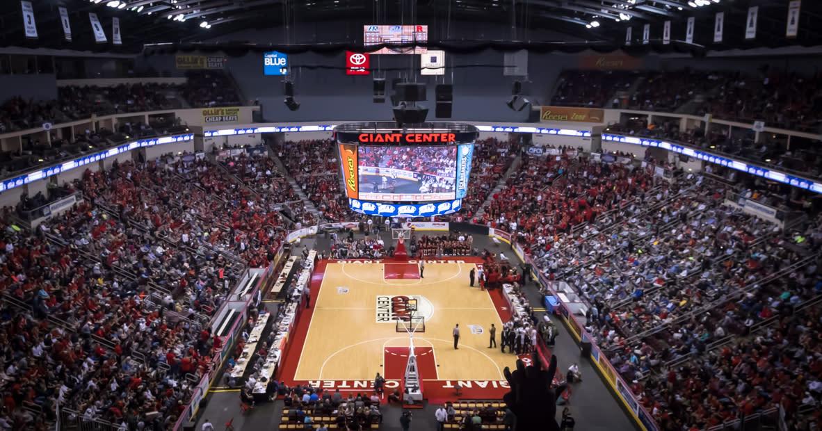 PIAA Basketball At Giant Center Court Shot