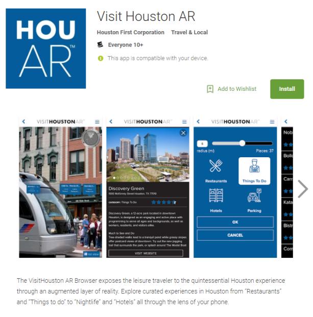 Visit Houston AR Install Play Store