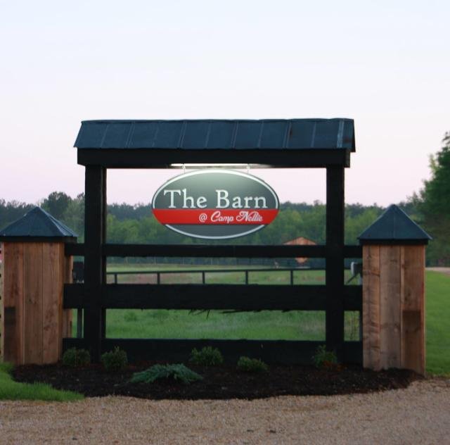The Barn @ Camp Nellie Sign