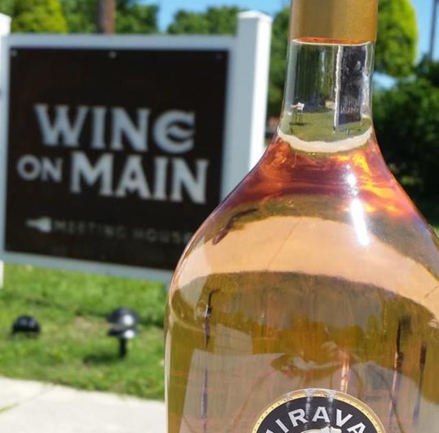 Wine on Main Sign