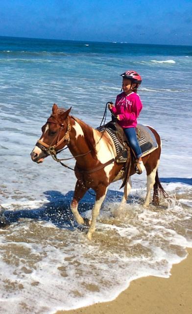 Horseback Riding at  Slainas River State Beach