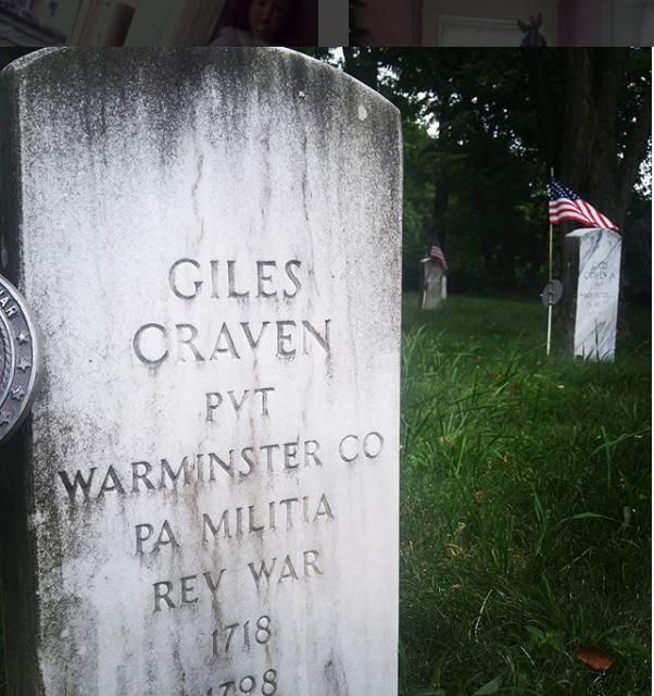 Giles Craven Headstone, Craven Hall