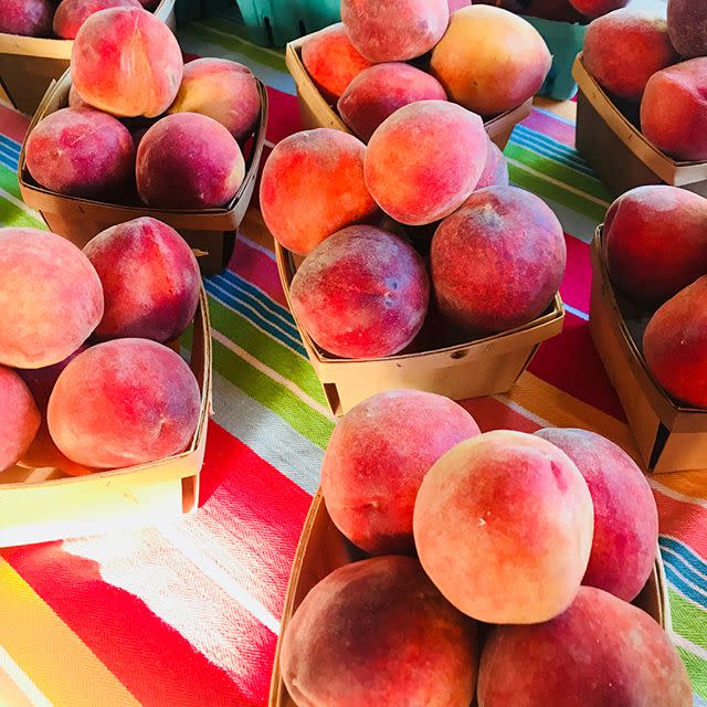 Peaches at Eno River Farmers Market