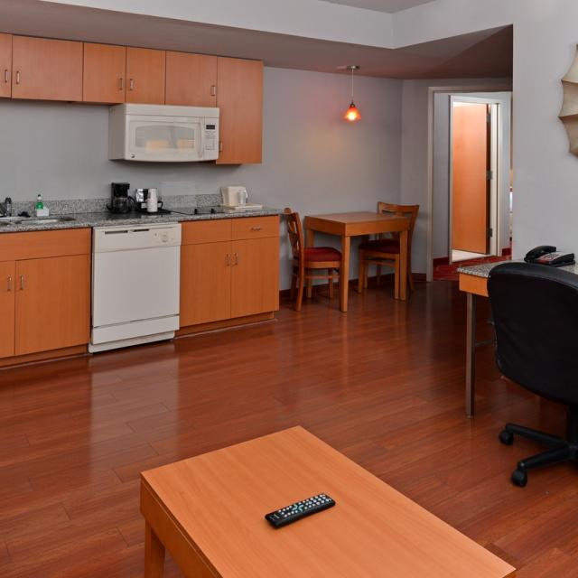 Executive Suite Living Room and Kitchenette