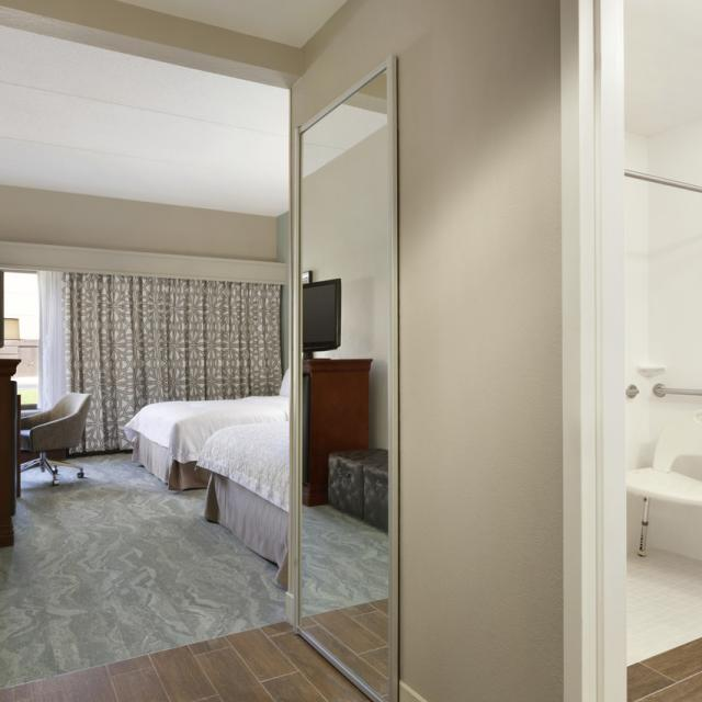 Two Queen Bed_Accessible Room with Walk In Shower - Renovated 2016