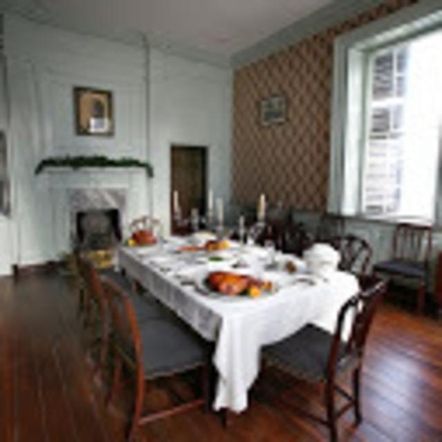 John Marshall House and Garden - dining room table