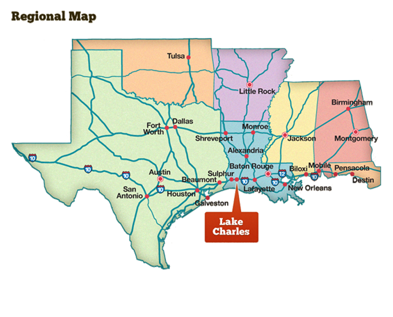 Lake Charles Regional Map