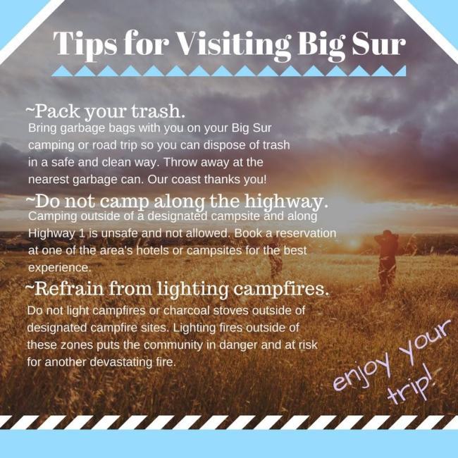 Big Sur Safety Tips