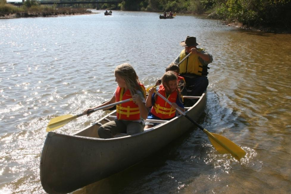 Canoeing on the Brazos River