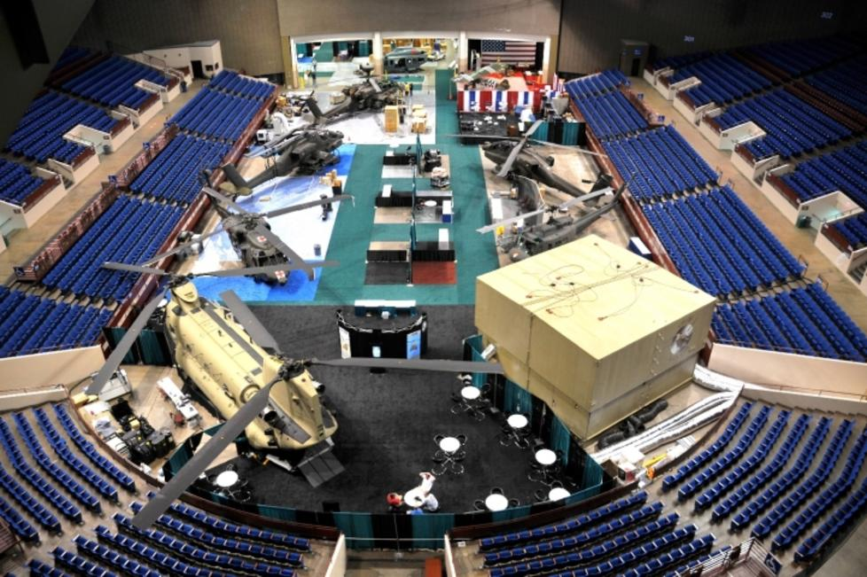 The Arena Set Up For A Trade Show
