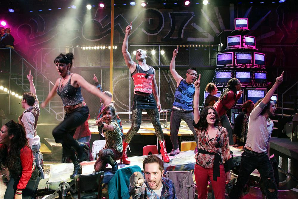 performance of RENT on stage at ZACH Theatre in Austin Texas