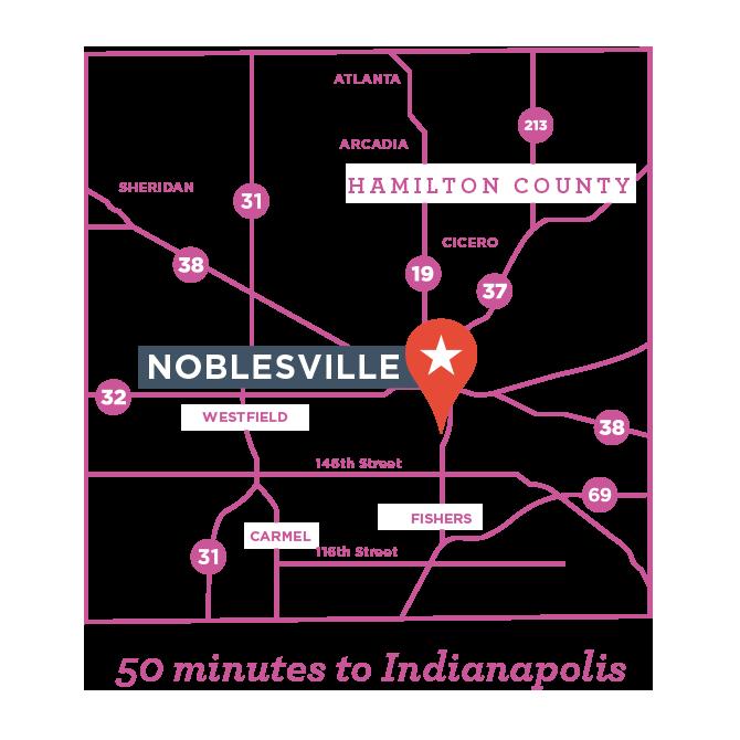Noblesville Indiana Map