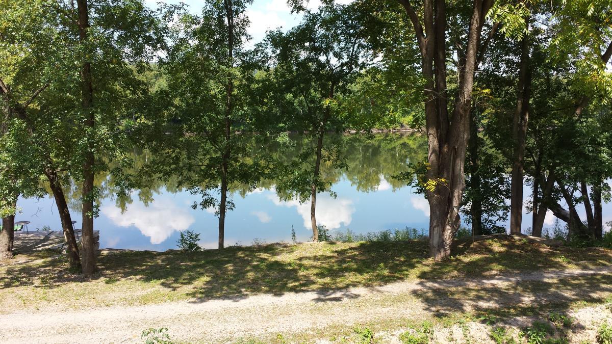 Delaware reflections Rick James bike blog post