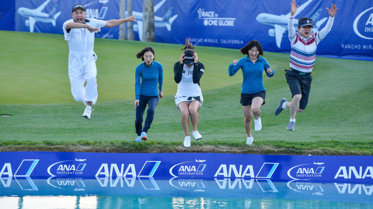 Poppy's Pond Leap at the ANA Inspiration