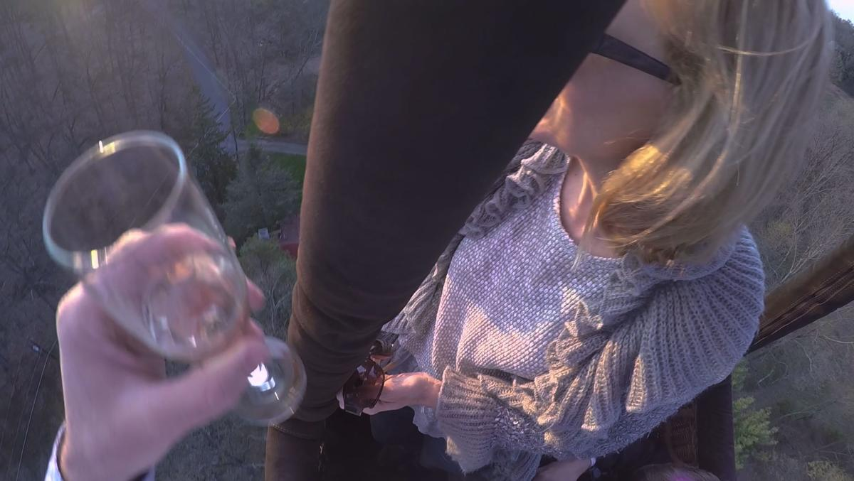 A Champagne toast is included in your hot air balloon rides