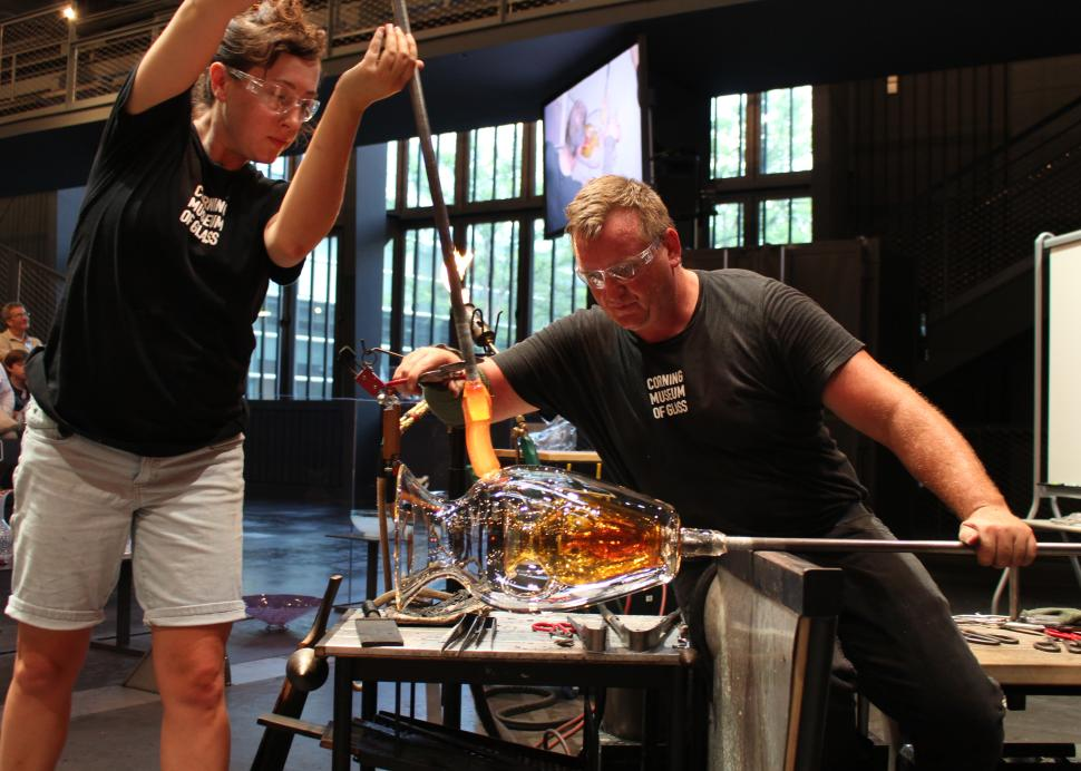 Hot Glass Show in the Amphitheater