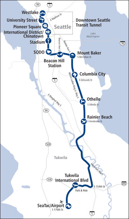 Link Light Rail Route Map