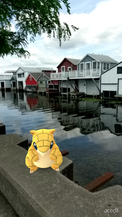Sandshrew at the Boathouses