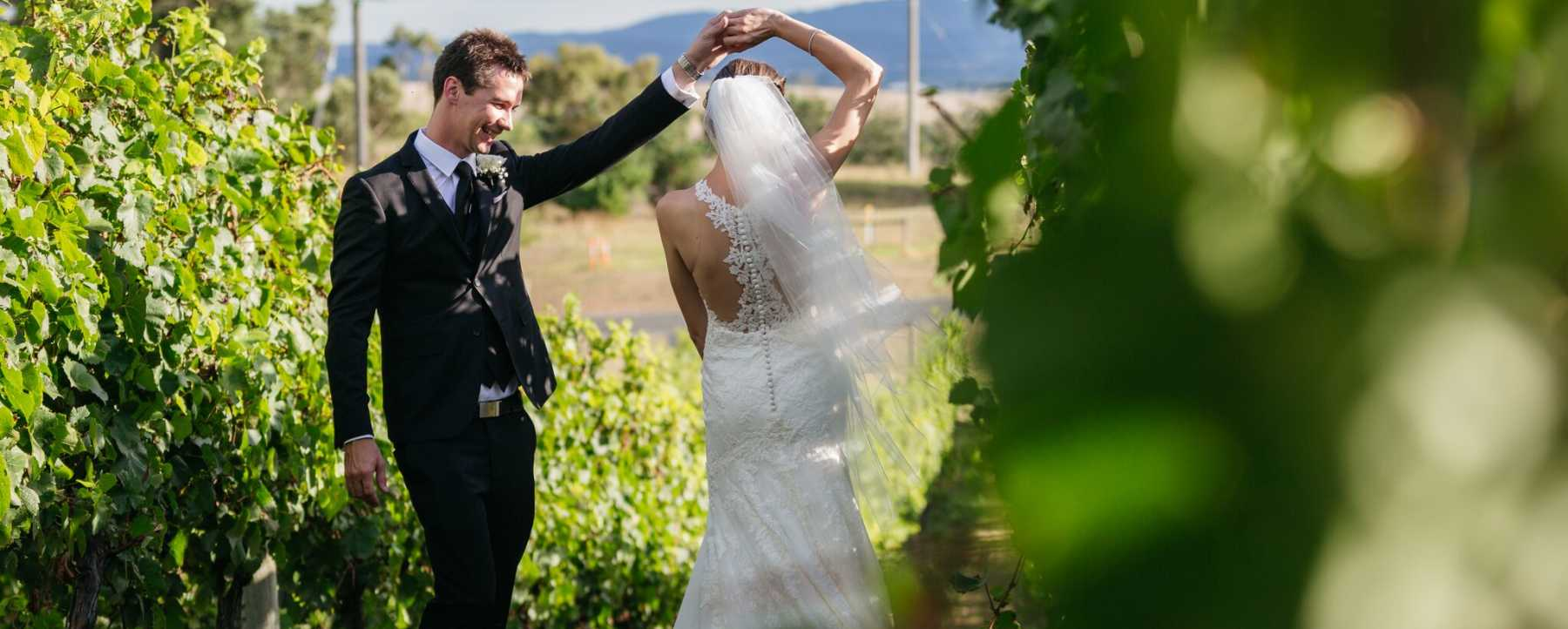 Wedding Ceremony at Balgownie Estate in Yarra Valley