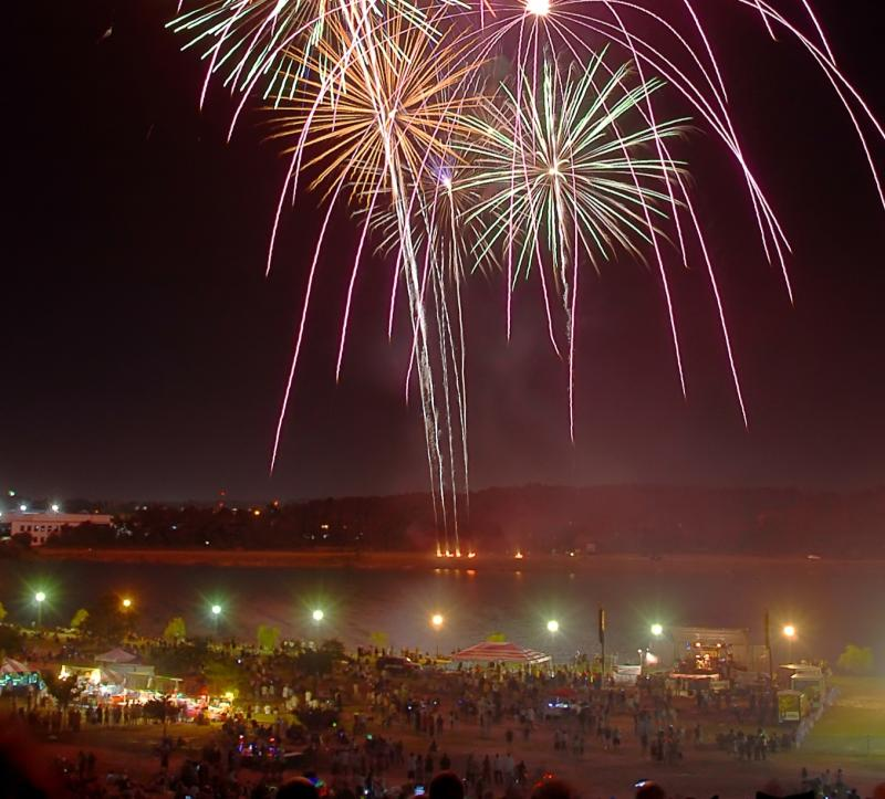Mount Trashmore Fireworks Virginia Beach Fourth of July