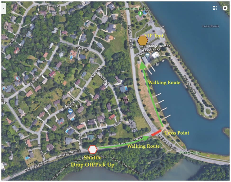 Oak Ridge Parking Map - USA Cycling