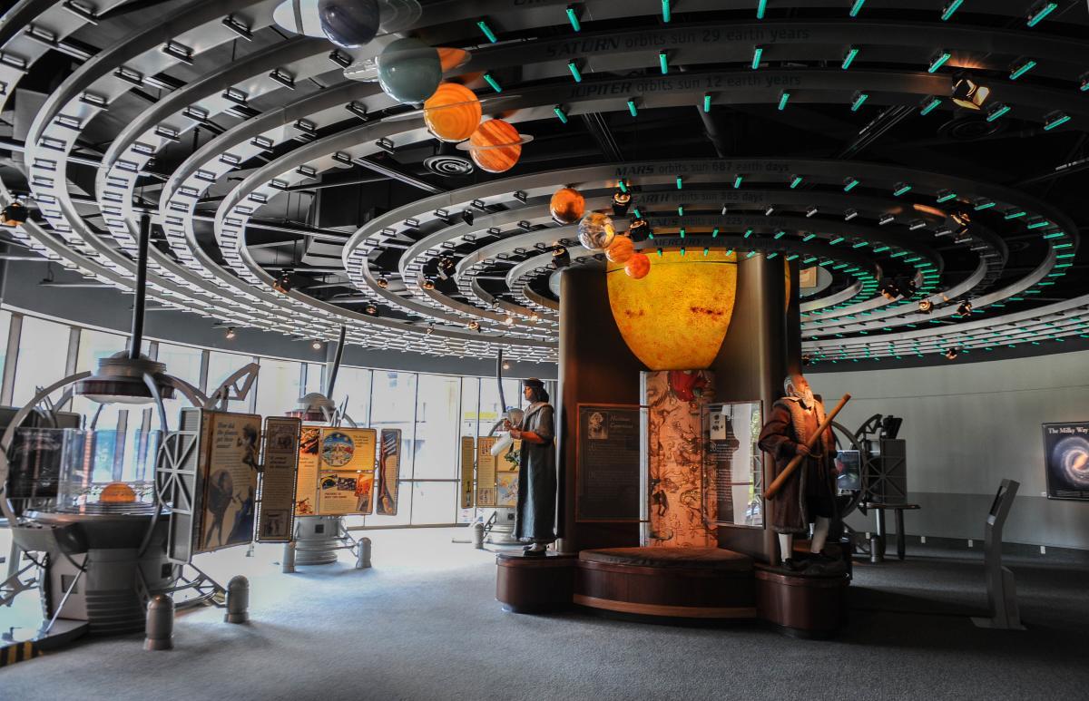 Solar system exhibit at LASM