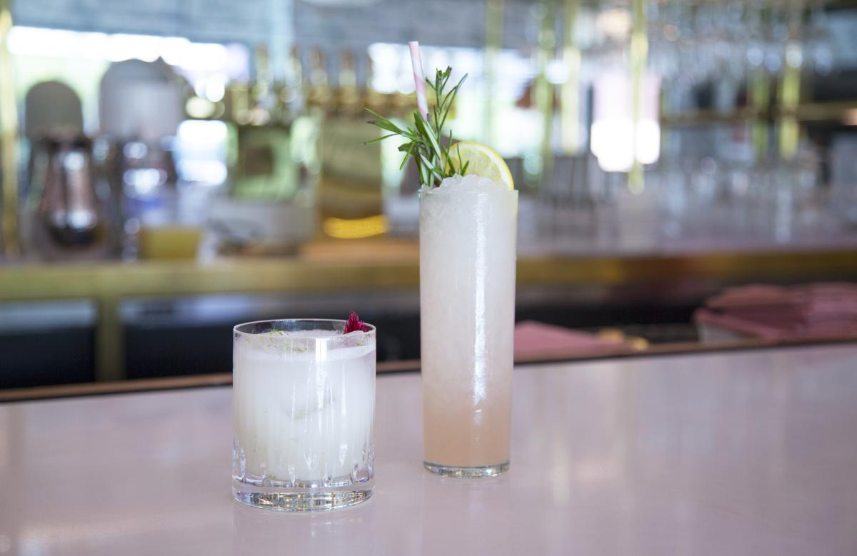 Cocktails at Pink Cabana
