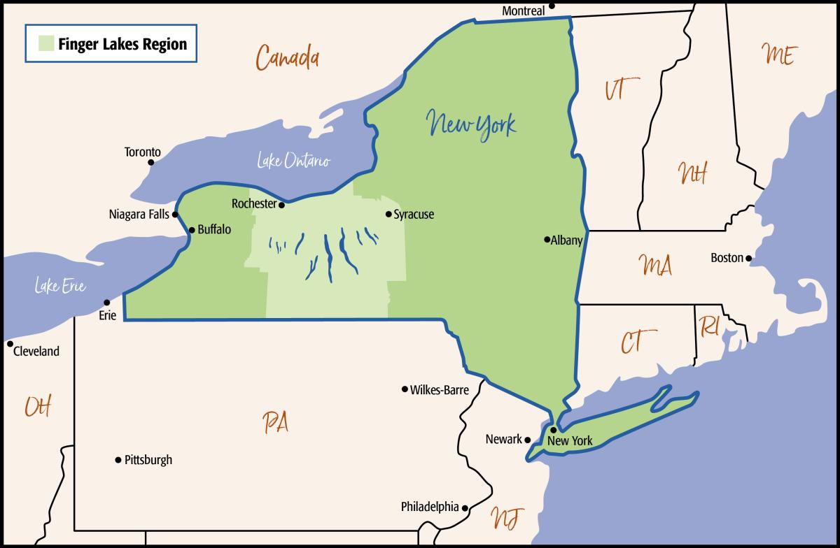 FLRTC NY State - Finger Lakes Region Map